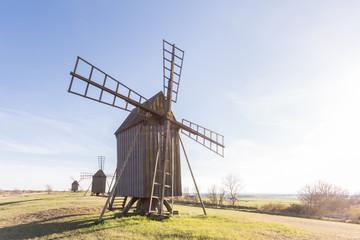 Fond de hotte en verre imprimé Moulins Windmühle auf Öland
