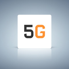 Web icon of 5G technology