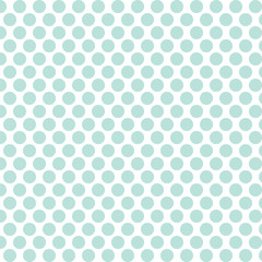 Medium Mint Polka Dot Seamless Pattern. EPS file has global colors for easy color changes.