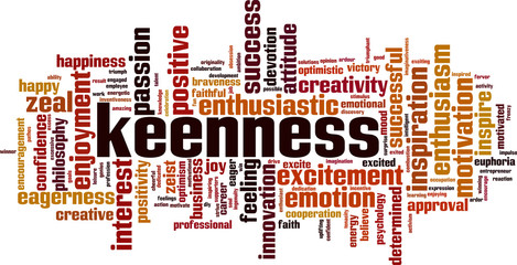 Keenness word cloud