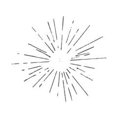 Vintage Sunburst Graphic Element
