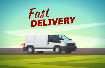 Delivery truck or van for transportation design