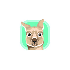 Cute Kangaroo App Icons Logo Vector