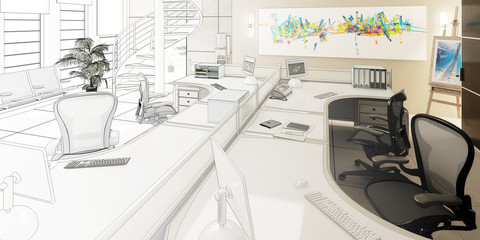 Büro-Konzept (Entwurf)