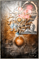 Wall Murals Imagination Sol invictus and ace of cup