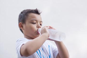 Boy, drink healthy water