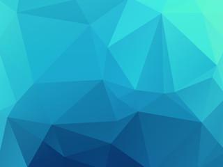 blue mosaic glass wallpaper