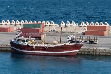 Dhau im Hafen von Muscat, Oman