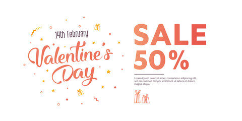 Flyer with text happy valentine's day