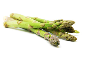 Delicious isolated asparagus