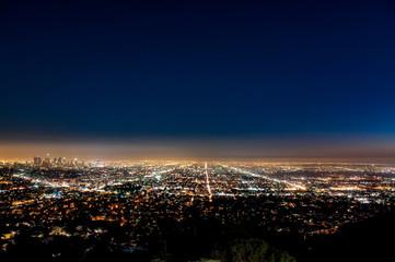 グリフィス天文台から望むアメリカ・ロサンゼルスの夜景