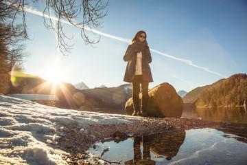 Winterlandschaft Schwangau alpsee