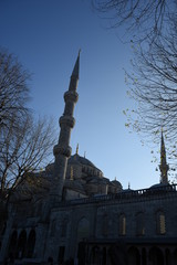 Sultan Ahmed Mosque in the snow Blue Mosque in Istanbul, Turkey