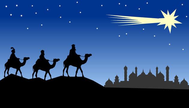 Tres Reyes Magos de Oriente  (vector)