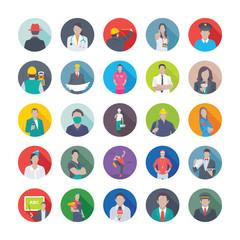 Professions Flat Icons Set