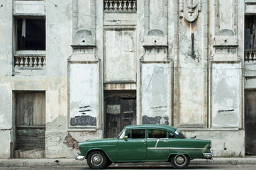 Old car in the streets of Havana
