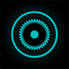 Neon Button rund - Konfigurieren-Symbol