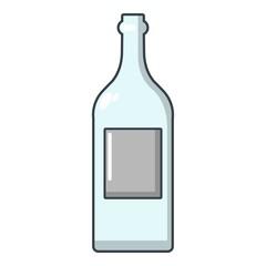 Empty bottle icon, cartoon style
