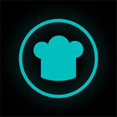 Neon Button rund - Kochmütze