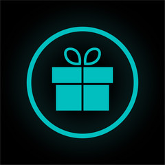 Neon Button rund - Geschenk