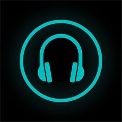 Neon Button rund - Lärmschutz