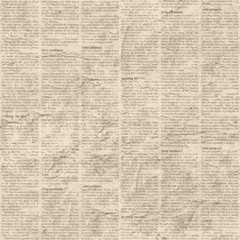 Newspaper texture seamless background