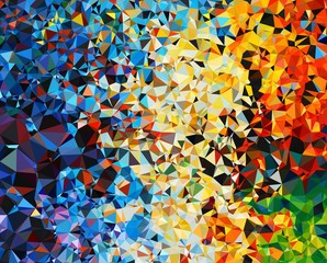 Multi Color Low Poly Abstract Background