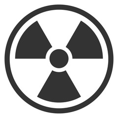 IONIZING RADIATION sign in circle. Vector icon.