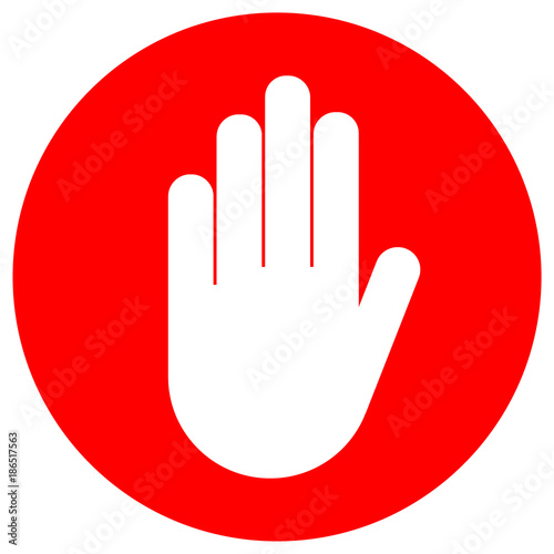 NO ENTRY sign in red circle  Vector icon