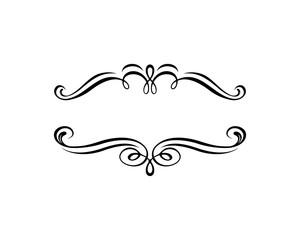 Vector Line Art Classic Frame For Company Logo Wedding
