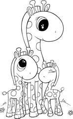 Cute Giraffe Vector Illustration Art