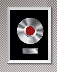 platinum LP frame silver
