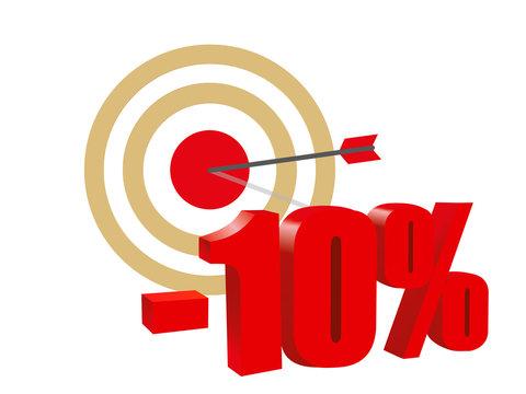 Target. Arrow. Discount ten percent.