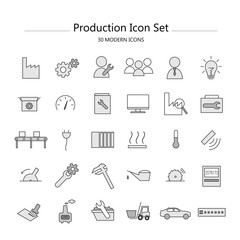 Icon Set Industrie & Produktion