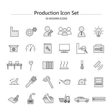 Icon Set Industrie & Produktion