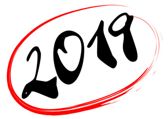 2019 in red ellipse