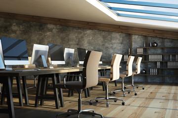 Loft coworking office interior