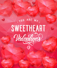 You Are My Sweetheart Romantic Lettering