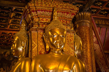 Buddha image in church of Wat Phumin, Nan, Thailand