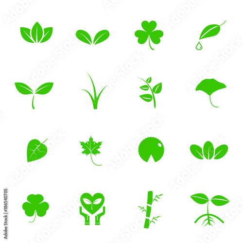 plant and leaf vector icon set nature and geology concept energy rh fotolia com