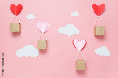 Table Top View Image Of Decoration Valentines Day Background ConceptText Sign Season With