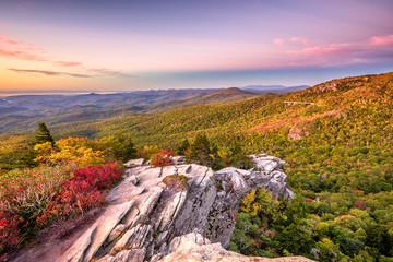 Fototapete - Blue Ridge Mountains landscape at Lin Cove