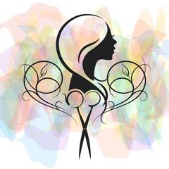 Beauty salon for women symbol