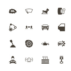 Auto icons. Perfect black pictogram on white background. Flat simple vector icon.