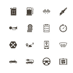 Automobile icons. Perfect black pictogram on white background. Flat simple vector icon.