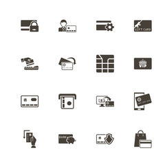Cards icons. Perfect black pictogram on white background. Flat simple vector icon.