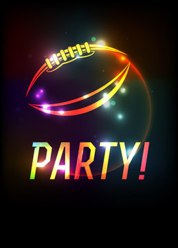American Football Party Template Background Illustration