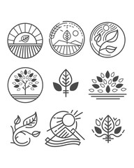 Vector nature logos or symbols