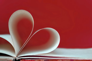 Heart book page, Valentines Day heart