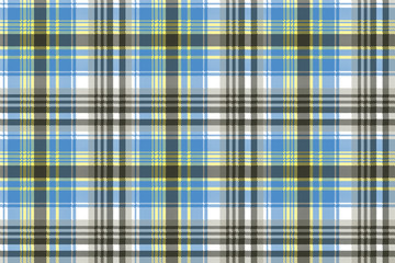 Blue light tartan plaid seamless pattern